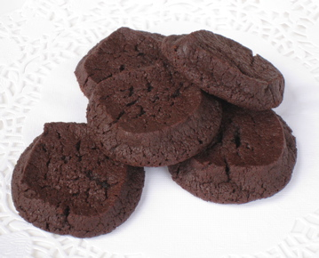 Chocolate sand biscuits